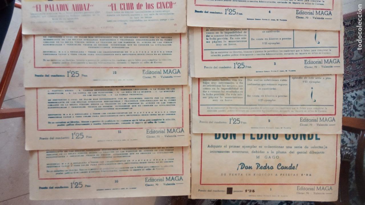 Tebeos: PANTERA NEGRA ORIGINAL COMPLETA 1,25 pts - ED. MAGA 1956 - 1 AL 54 MAGNÍFICO ESTADO, VER LAS PORTAD - Foto 7 - 236653210