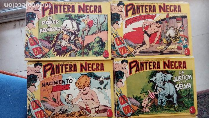 Tebeos: PANTERA NEGRA ORIGINAL COMPLETA 1,25 pts - ED. MAGA 1956 - 1 AL 54 MAGNÍFICO ESTADO, VER LAS PORTAD - Foto 9 - 236653210