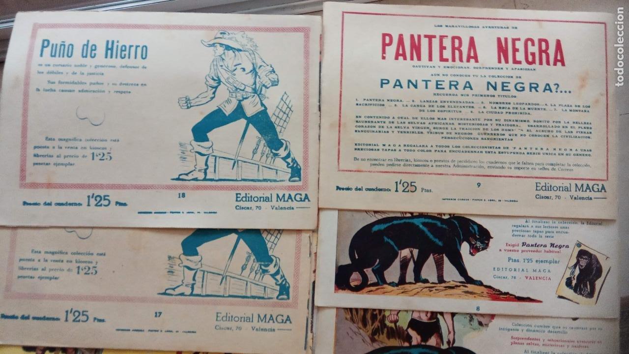 Tebeos: PANTERA NEGRA ORIGINAL COMPLETA 1,25 pts - ED. MAGA 1956 - 1 AL 54 MAGNÍFICO ESTADO, VER LAS PORTAD - Foto 10 - 236653210