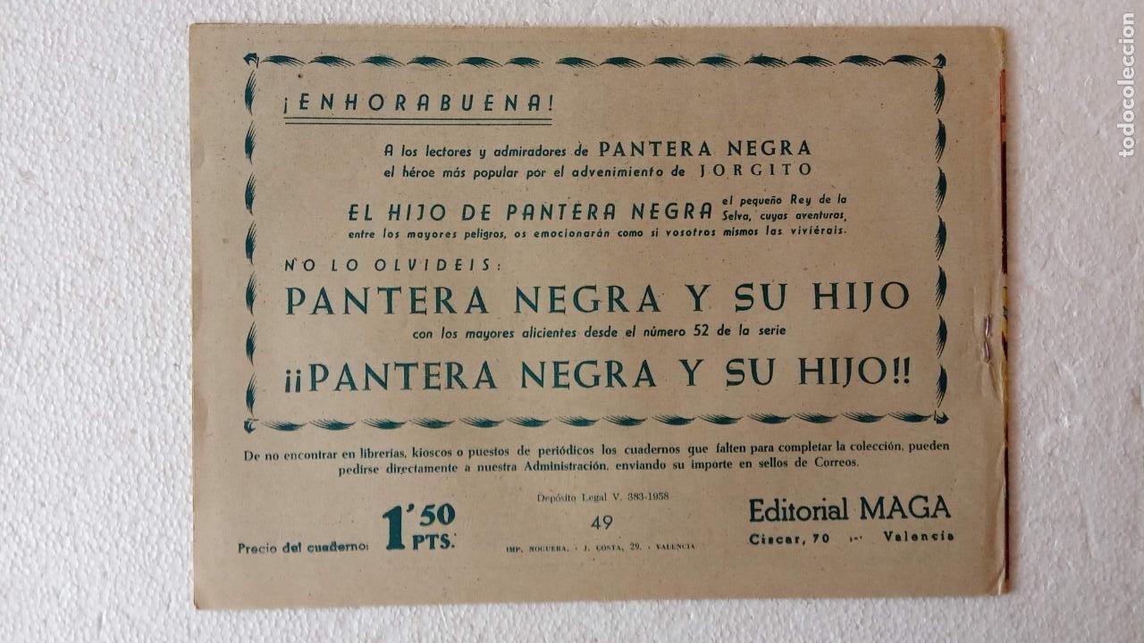 Tebeos: PANTERA NEGRA ORIGINAL COMPLETA 1,25 pts - ED. MAGA 1956 - 1 AL 54 MAGNÍFICO ESTADO, VER LAS PORTAD - Foto 92 - 236653210