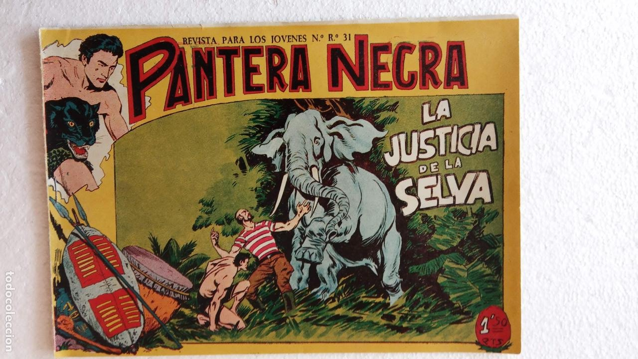 Tebeos: PANTERA NEGRA ORIGINAL COMPLETA 1,25 pts - ED. MAGA 1956 - 1 AL 54 MAGNÍFICO ESTADO, VER LAS PORTAD - Foto 93 - 236653210