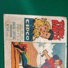 Tebeos: TONY Y ANITA (1960, MAGA) 1 · 13-VII-1960 · TONY Y ANITA. LOS ASES DEL CIRCO. Lote 236749360