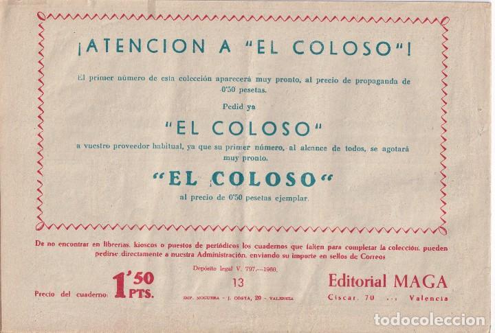 Tebeos: JIM ALEGRIAS: NUMERO 13 EL PRECIO DE LA LIBERTAD, EDITORIAL MAGA - Foto 2 - 238257525