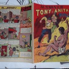Tebeos: ALMANAQUE DE TONY Y ANITA PARA 1957, ORIGINAL Y MUY NUEVO. Lote 239401395