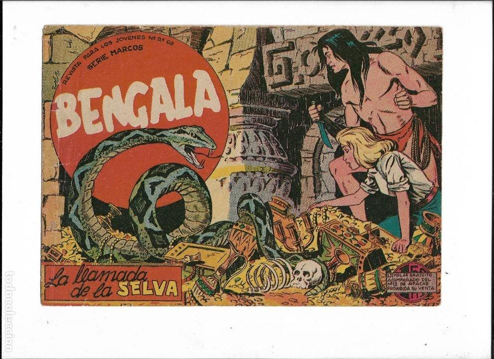Tebeos: Bengala Año 1960 Colección Completa son 54 Tebeos Originales dibujante L. Ortiz - Foto 4 - 219455281