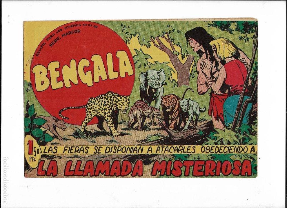 Tebeos: Bengala Año 1960 Colección Completa son 54 Tebeos Originales dibujante L. Ortiz - Foto 13 - 219455281