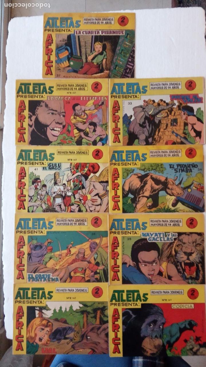 AFRICA ORIGINALES MAGA 1964 NºS - 33,34,35,36,37,38,41,51,58 (Tebeos y Comics - Maga - Otros)