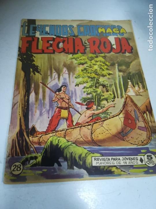 TEBEO. EDITORIAL MAGA. LEYENDAS GRÁFICAS. FLECHA ROJA. Nº 28. VER FOTOS (Tebeos y Comics - Maga - Flecha Roja)