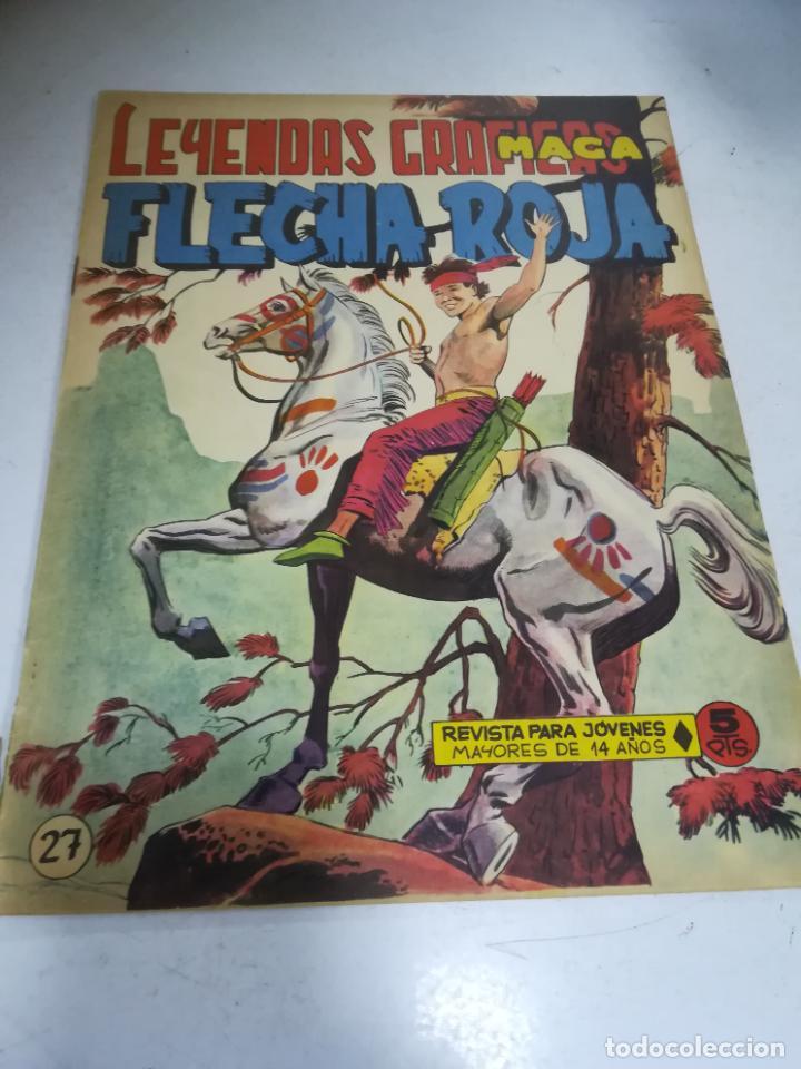 TEBEO. EDITORIAL MAGA. LEYENDAS GRÁFICAS. FLECHA ROJA. Nº 27. VER FOTOS (Tebeos y Comics - Maga - Flecha Roja)