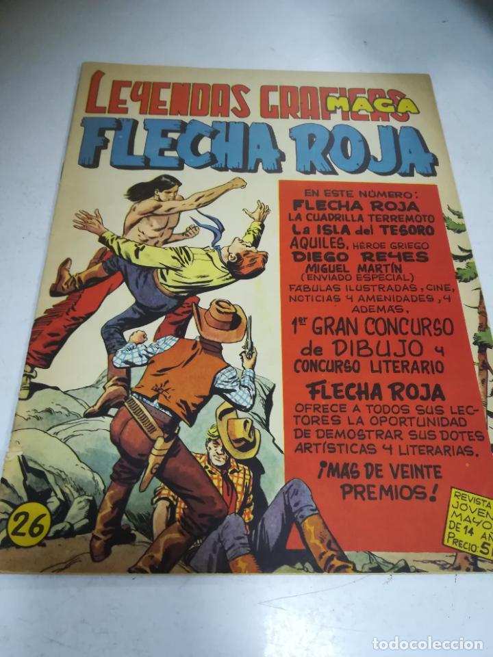 TEBEO. EDITORIAL MAGA. LEYENDAS GRÁFICAS. FLECHA ROJA. Nº 26. VER FOTOS (Tebeos y Comics - Maga - Flecha Roja)