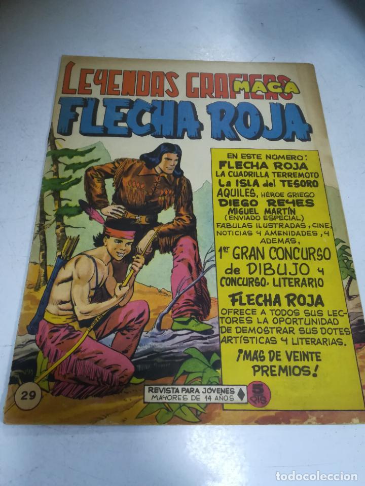 TEBEO. EDITORIAL MAGA. LEYENDAS GRÁFICAS. FLECHA ROJA. Nº 29. VER FOTOS (Tebeos y Comics - Maga - Flecha Roja)