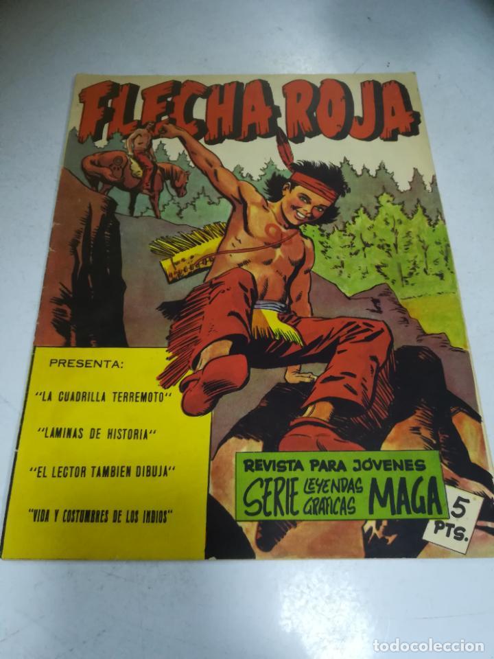 TEBEO. EDITORIAL MAGA. LEYENDAS GRÁFICAS. FLECHA ROJA. VER FOTOS (Tebeos y Comics - Maga - Flecha Roja)