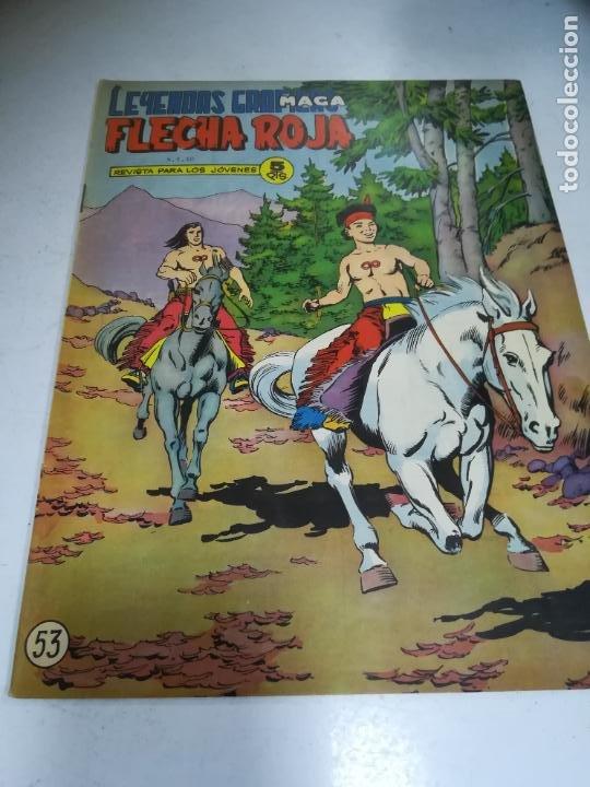 TEBEO. EDITORIAL MAGA. LEYENDAS GRÁFICAS. FLECHA ROJA. Nº 53. VER FOTOS (Tebeos y Comics - Maga - Flecha Roja)