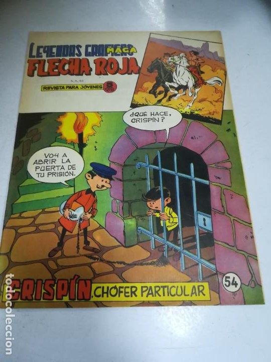 TEBEO. EDITORIAL MAGA. LEYENDAS GRÁFICAS. FLECHA ROJA. Nº 54. VER FOTOS (Tebeos y Comics - Maga - Flecha Roja)