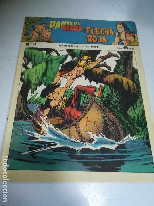 TEBEO. EDITORIAL MAGA. PANTERA NEGRA Y FLECHA ROJA. Nº 78. (Tebeos y Comics - Maga - Flecha Roja)