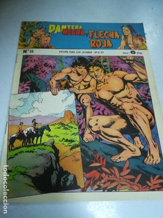 TEBEO. EDITORIAL MAGA. PANTERA NEGRA Y FLECHA ROJA. Nº 86. (Tebeos y Comics - Maga - Flecha Roja)