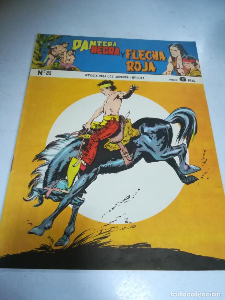 TEBEO. EDITORIAL MAGA. PANTERA NEGRA Y FLECHA ROJA. Nº 85. (Tebeos y Comics - Maga - Flecha Roja)