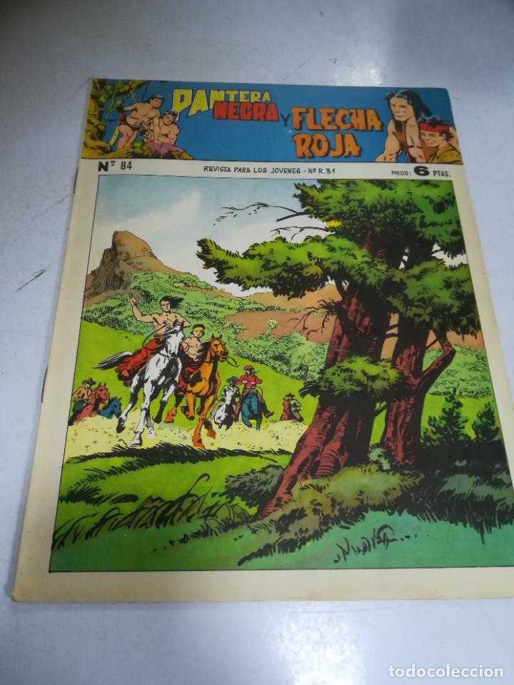 TEBEO. EDITORIAL MAGA. PANTERA NEGRA Y FLECHA ROJA. Nº 84. (Tebeos y Comics - Maga - Flecha Roja)