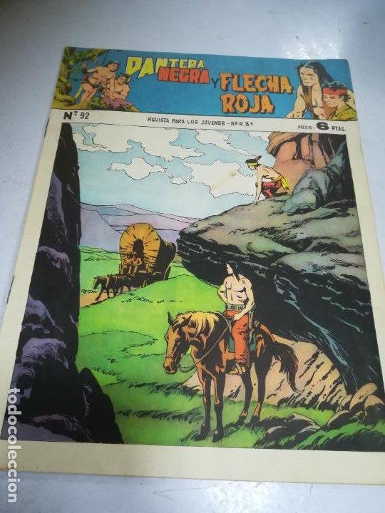 TEBEO. EDITORIAL MAGA. PANTERA NEGRA Y FLECHA ROJA. Nº 92 (Tebeos y Comics - Maga - Flecha Roja)