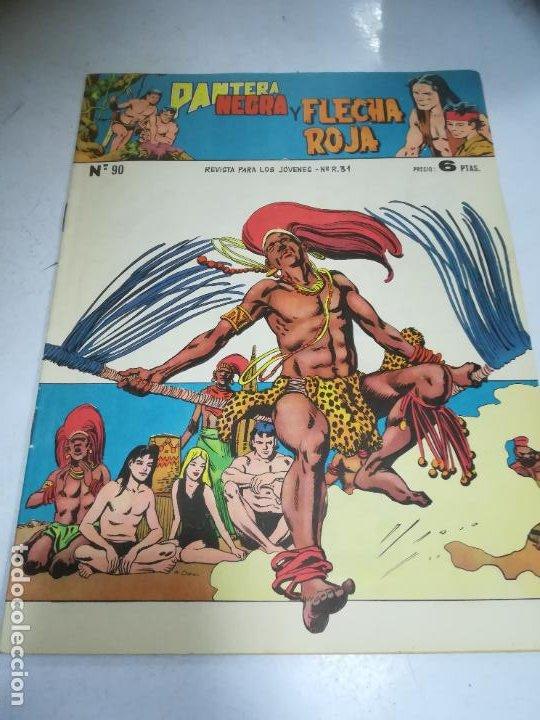 TEBEO. EDITORIAL MAGA. PANTERA NEGRA Y FLECHA ROJA. Nº 90. (Tebeos y Comics - Maga - Flecha Roja)