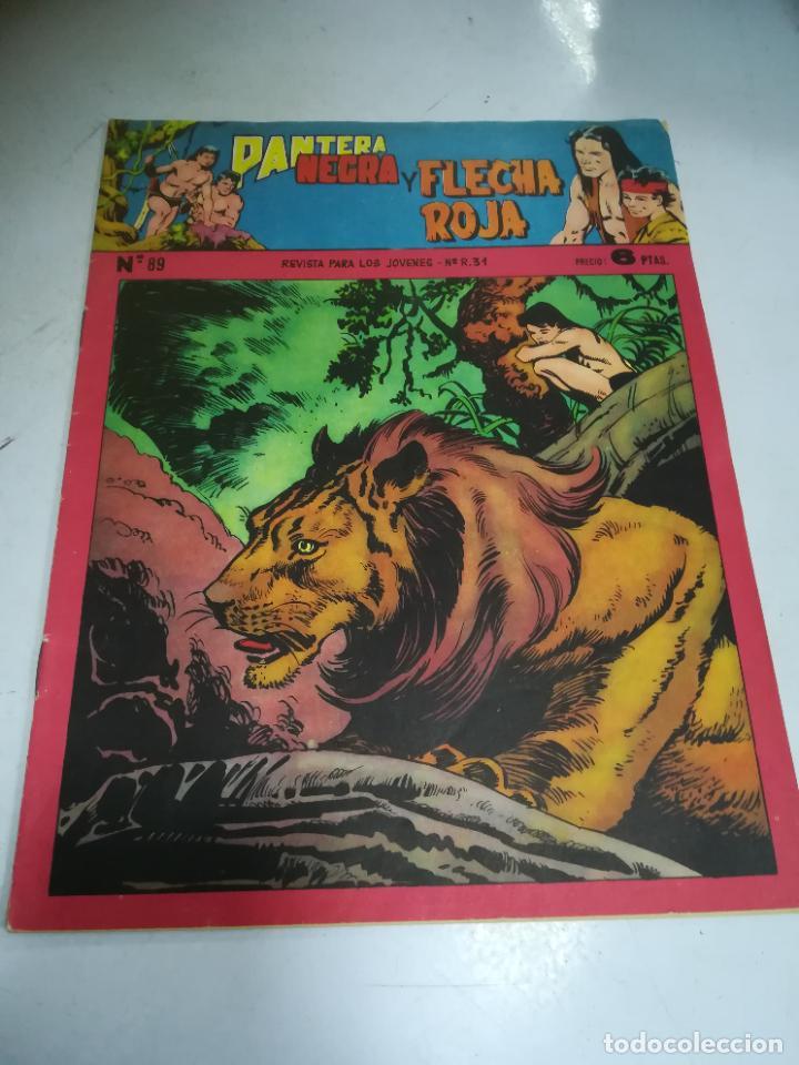 TEBEO. EDITORIAL MAGA. PANTERA NEGRA Y FLECHA ROJA. Nº 89. (Tebeos y Comics - Maga - Flecha Roja)