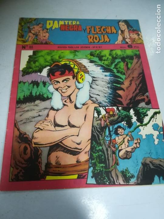 TEBEO. EDITORIAL MAGA. PANTERA NEGRA Y FLECHA ROJA. Nº 88. (Tebeos y Comics - Maga - Flecha Roja)