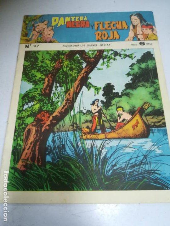 TEBEO. EDITORIAL MAGA. PANTERA NEGRA Y FLECHA ROJA. Nº 97. (Tebeos y Comics - Maga - Flecha Roja)