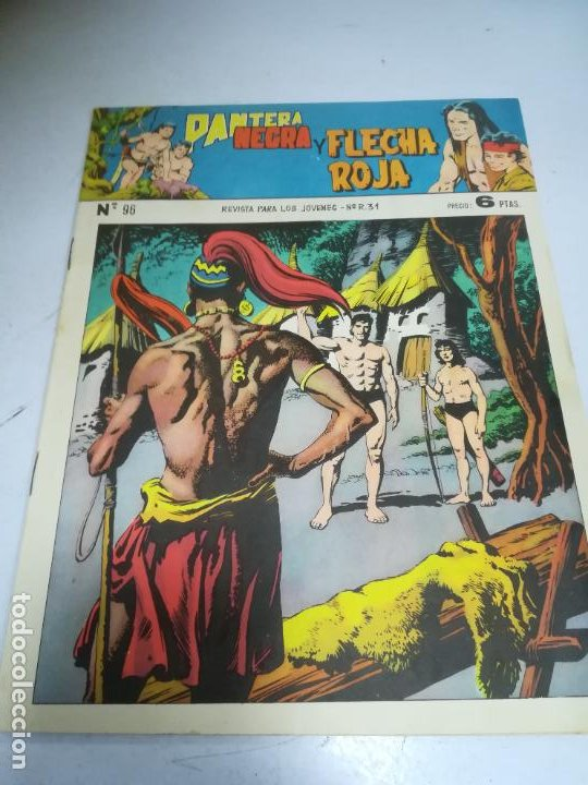 TEBEO. EDITORIAL MAGA. PANTERA NEGRA Y FLECHA ROJA. Nº 96. (Tebeos y Comics - Maga - Flecha Roja)