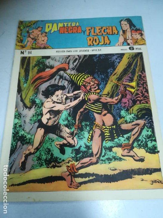 TEBEO. EDITORIAL MAGA. PANTERA NEGRA Y FLECHA ROJA. Nº 94. (Tebeos y Comics - Maga - Flecha Roja)