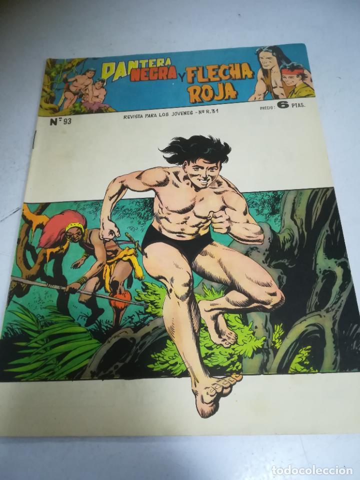 TEBEO. EDITORIAL MAGA. PANTERA NEGRA Y FLECHA ROJA. Nº 93. (Tebeos y Comics - Maga - Flecha Roja)