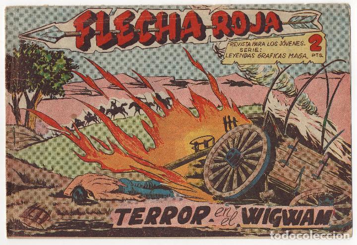 FLECHA ROJA Nº 40 (MAGA 1962) (Tebeos y Comics - Maga - Flecha Roja)