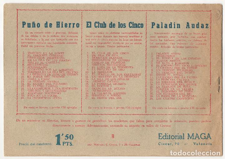 Tebeos: CAPITAN VALIENTE nº 8 (Maga 1957) - Foto 2 - 243337140