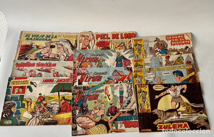 Tebeos: Lote de cómics VIEJO DE LA MAZMORRA, MÁQUINAS DIABOLICAS, PIEL DE LOBO, EL SARGENTO VIRUS, RAYO SELV - Foto 2 - 243862945