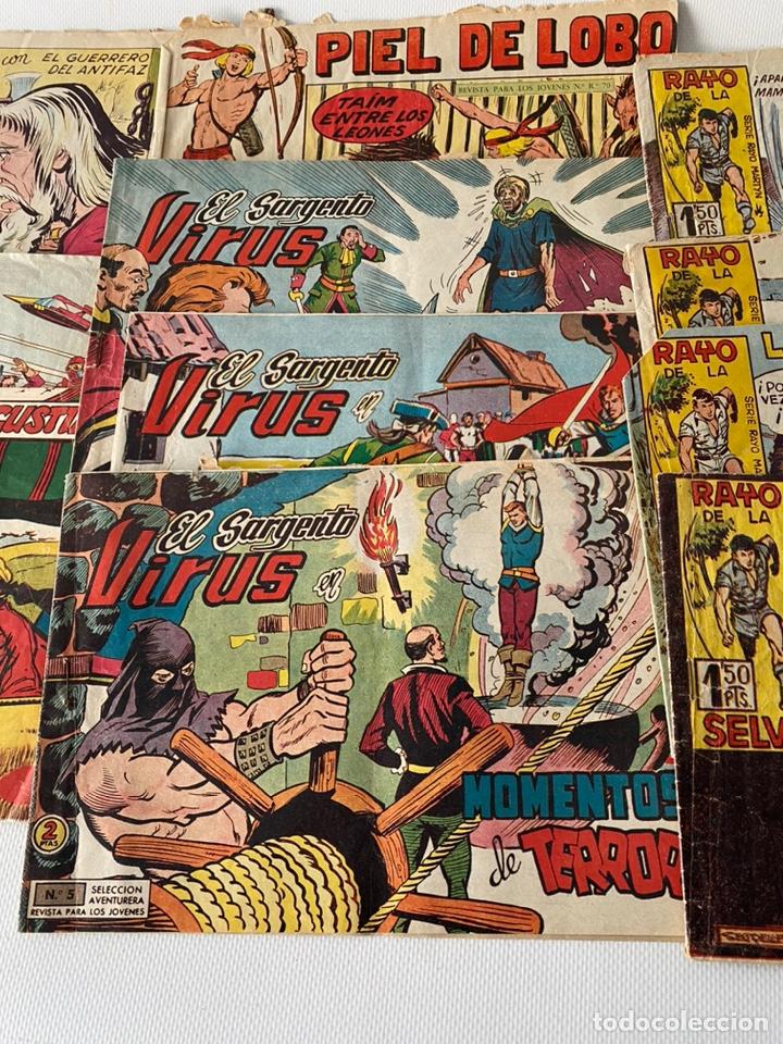 Tebeos: Lote de cómics VIEJO DE LA MAZMORRA, MÁQUINAS DIABOLICAS, PIEL DE LOBO, EL SARGENTO VIRUS, RAYO SELV - Foto 4 - 243862945