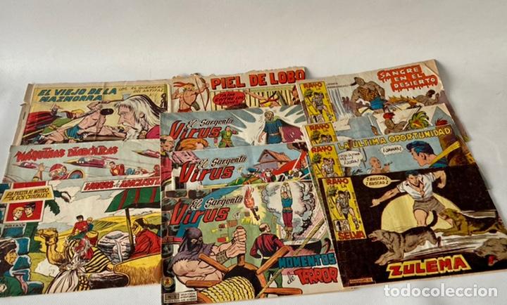 LOTE DE CÓMICS VIEJO DE LA MAZMORRA, MÁQUINAS DIABOLICAS, PIEL DE LOBO, EL SARGENTO VIRUS, RAYO SELV (Tebeos y Comics - Maga - Rayo de la Selva)