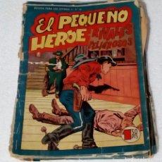 Tebeos: EL PEQUEÑO HÉROE. LOTE DE 19 TEBEOS ORIGINALES COMPLETOS. AÑOS 60. DESGASTADOS Y ALGUNOS DESPEGADOS.. Lote 244814240