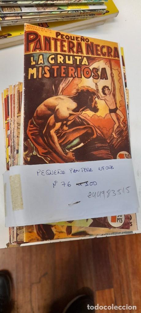 LOTE DE 25 NUMEROS, PEQUEÑO PANTERA NEGRA DEL 76 AL 100,EDITORIAL MAGA, REEDICION (Tebeos y Comics - Maga - Pantera Negra)