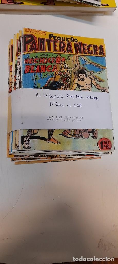LOTE DE 24 NUMEROS, PEQUEÑO PANTERA NEGRA DEL 101 AL 124 ,EDITORIAL MAGA, REEDICION (Tebeos y Comics - Maga - Pantera Negra)