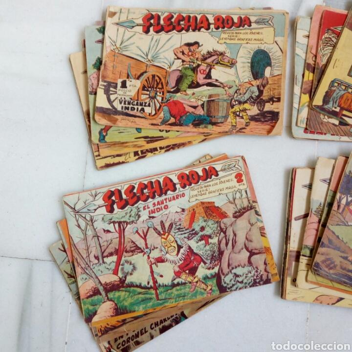 LOTE DE 51TEBEOS FLECHA ROJA. COMPLETOS ORIGINALES ANTIGUOS. EDITORIAL MAGA (Tebeos y Comics - Maga - Flecha Roja)