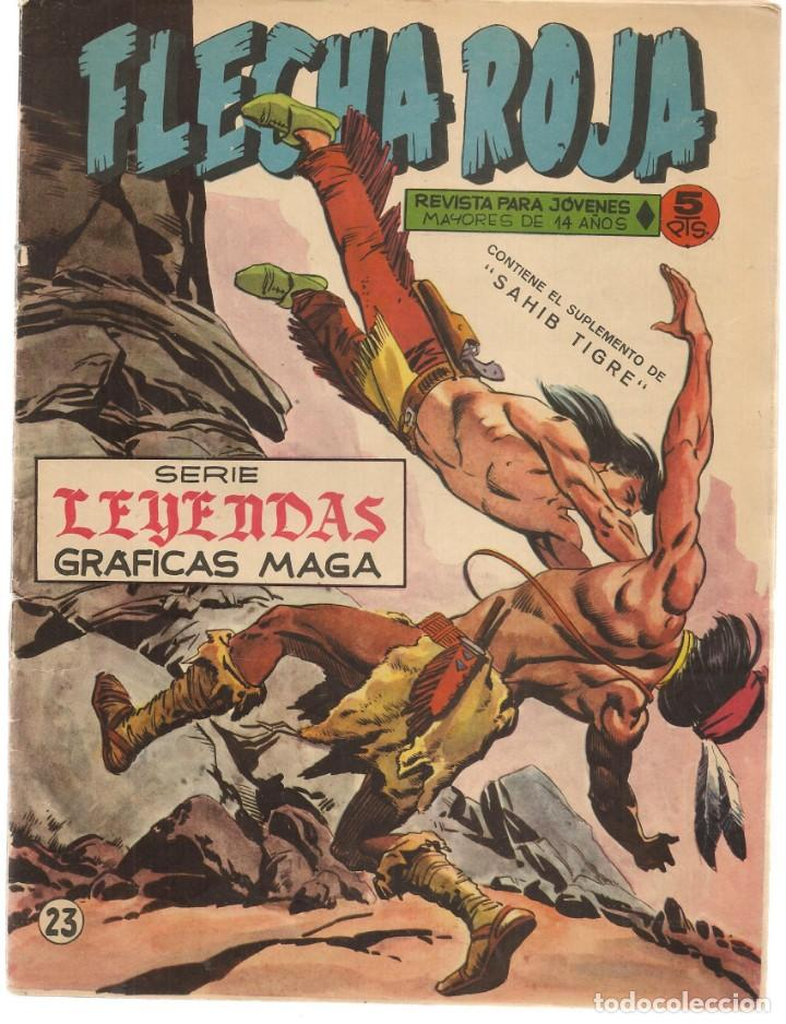 FLECHA ROJA. Nº 23. CONTIENE EL SUPLEMENTO DE SAHIB TIGRE. MAGA(C/A3) (Tebeos y Comics - Maga - Flecha Roja)
