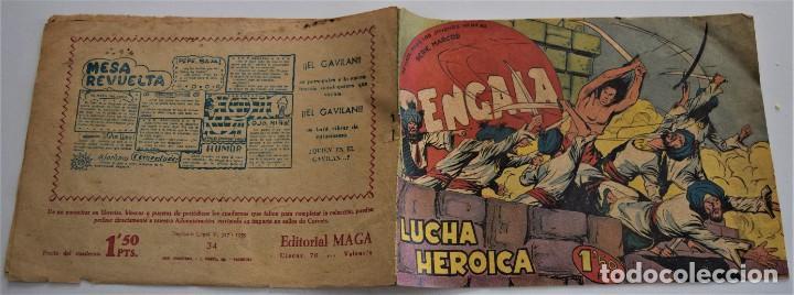 Tebeos: BENGALA Nº 34 - EDITORIAL MAGA AÑO 1959 - Foto 2 - 249513470