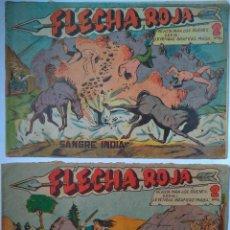 Tebeos: FLECHA ROJA NÚM. 6 Y NÚM. 9 EDITORIAL MAGA (1962, 1963). Lote 250267770