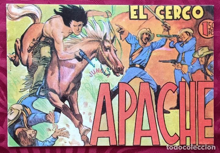 APACHE - EL CERCO - Nº 10 ORIGINAL - EDITORIAL MAGA - 1958 - BUEN ESTADO DE CONSERVACION (Tebeos y Comics - Maga - Apache)