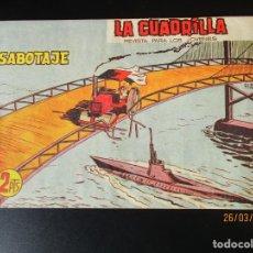 Tebeos: CUADRILLA, LA (1961, MAGA) 9 · 4-X-1961 · SABOTAJE. Lote 251465325