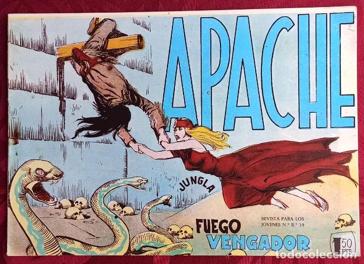APACHE - ORIGINAL - AÑO 1958 - NÚM. 51 - FUEGO VENGADOR (Tebeos y Comics - Maga - Apache)