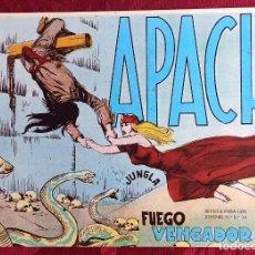 Tebeos: APACHE - ORIGINAL - AÑO 1958 - NÚM. 51 - FUEGO VENGADOR. Lote 251541725