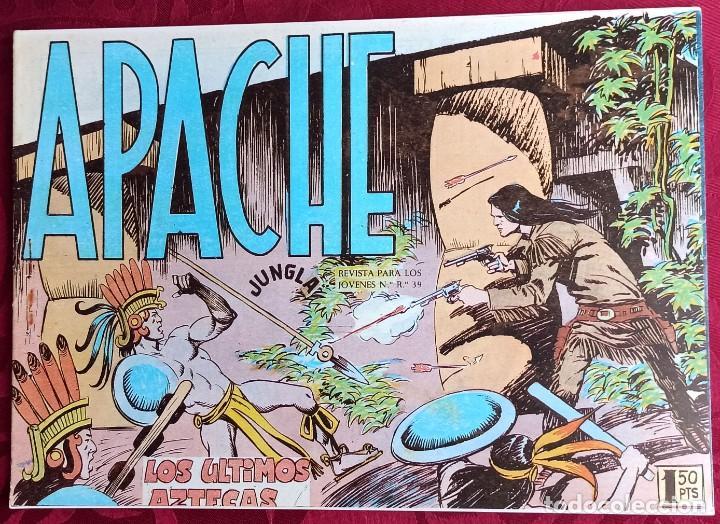 APACHE - ORIGINAL - AÑO 1958 - NÚM. 49 - LOS ULTIMOS AZTECAS - EDITORIAL MAGA (Tebeos y Comics - Maga - Apache)