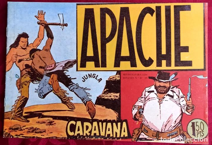 APACHE - ORIGINAL - AÑO 1958 - NÚM. 14 - CARAVANA - EDITORIAL MAGA (Tebeos y Comics - Maga - Apache)