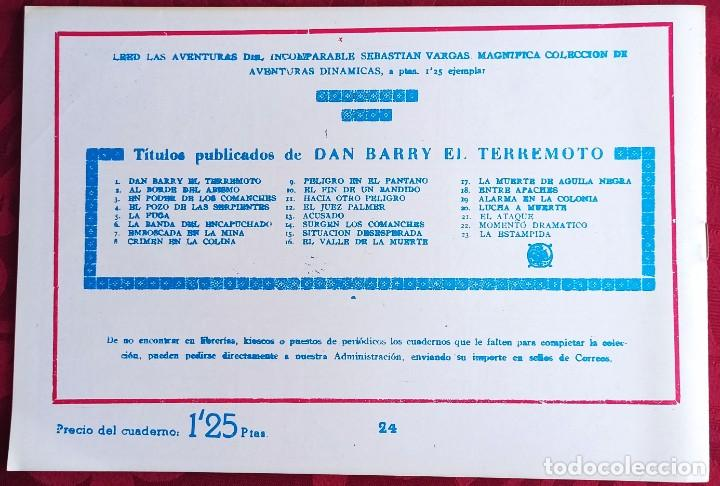 Tebeos: El TERREMOTO de Dan Barry - Original - Año 1954 - Núm. 24 - En la boca del lobo - Buen estado - Foto 2 - 251542920