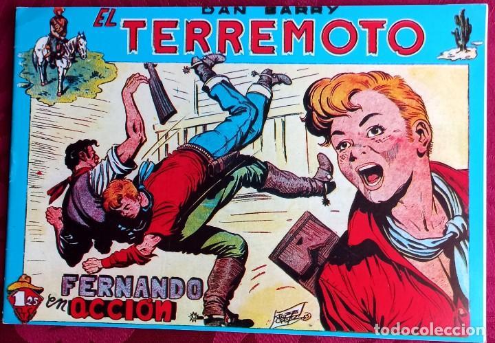 EL TERREMOTO DE DAN BARRY - ORIGINAL - AÑO 1954 - NÚM. 25 - FERNANDO EN ACCION - BUEN ESTADO (Tebeos y Comics - Maga - Apache)